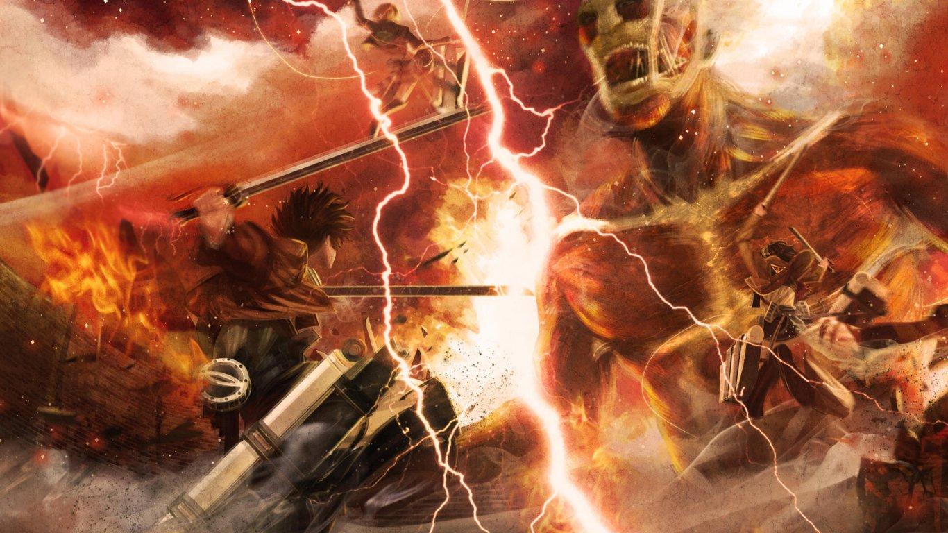 48 Attack On Titan Wallpaper 1366x768 On Wallpapersafari
