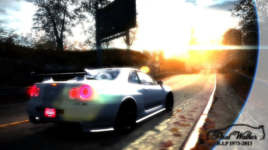 NFS World Paul Walker Tribute Wallpaper By DAMASOCHANDIA 1024x576