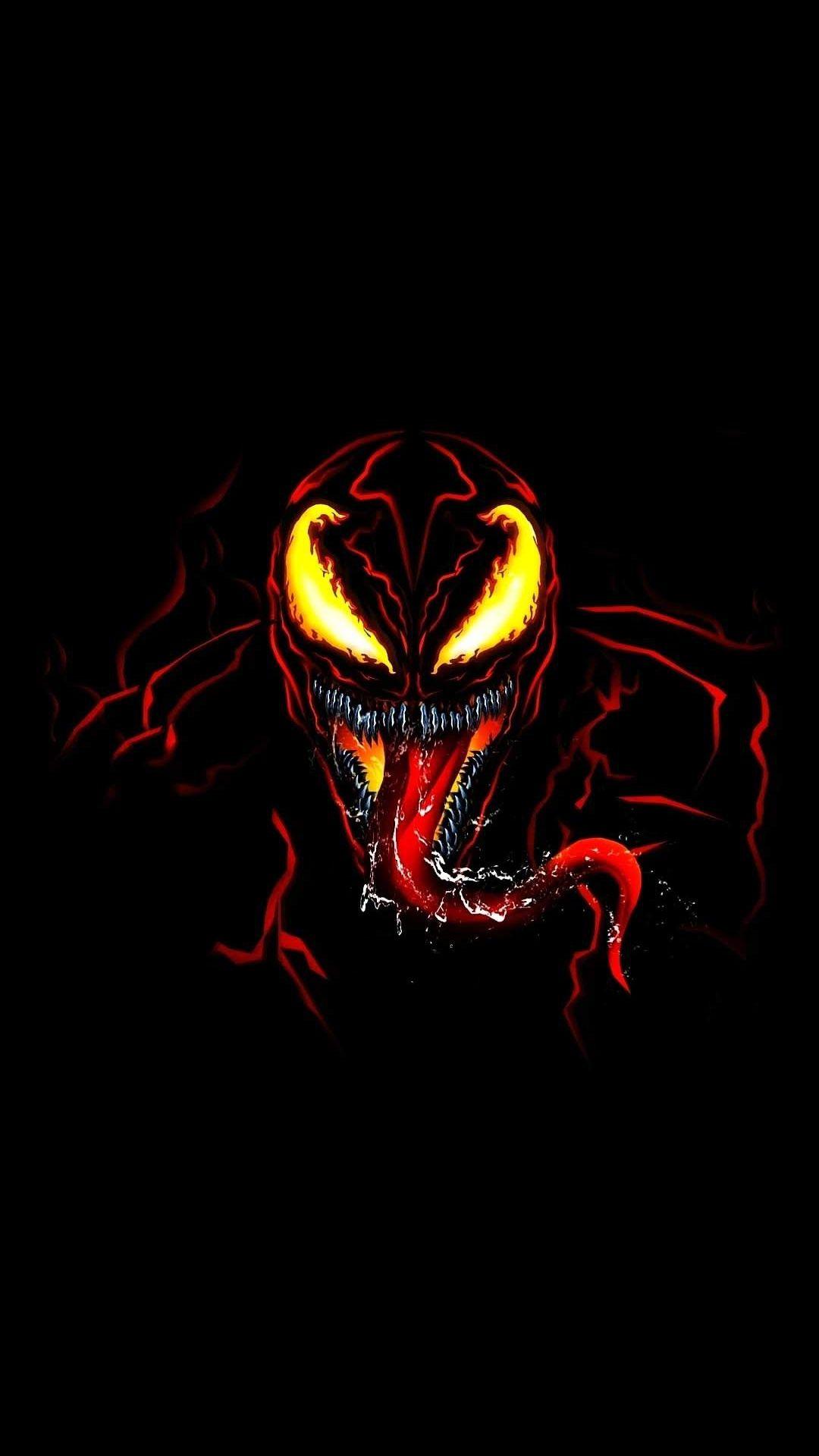 Venom Red iPhone Wallpaper Marvel paintings Marvel iphone 1080x1920