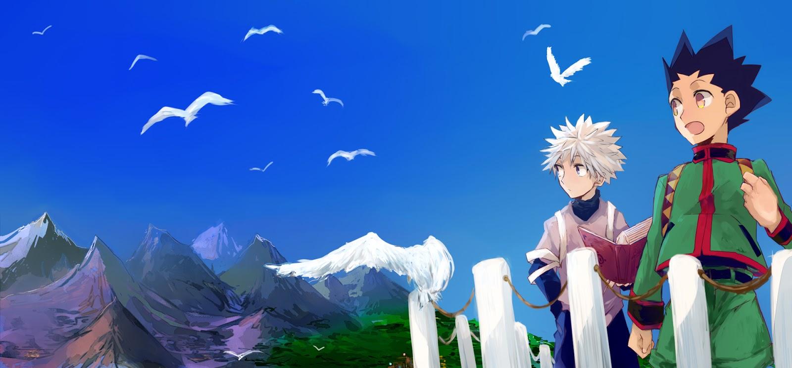 Gon Killua Greed Island Hunter X Hunter 2011 Anime HD Wallpaper 1600x745