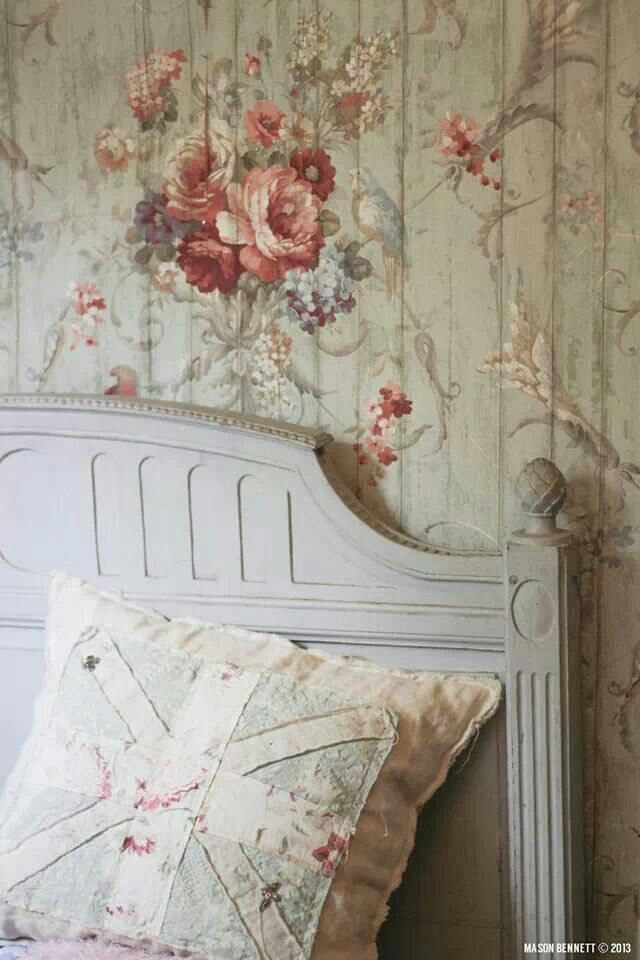 shabby chic wallpaper wallpapersafari. Black Bedroom Furniture Sets. Home Design Ideas