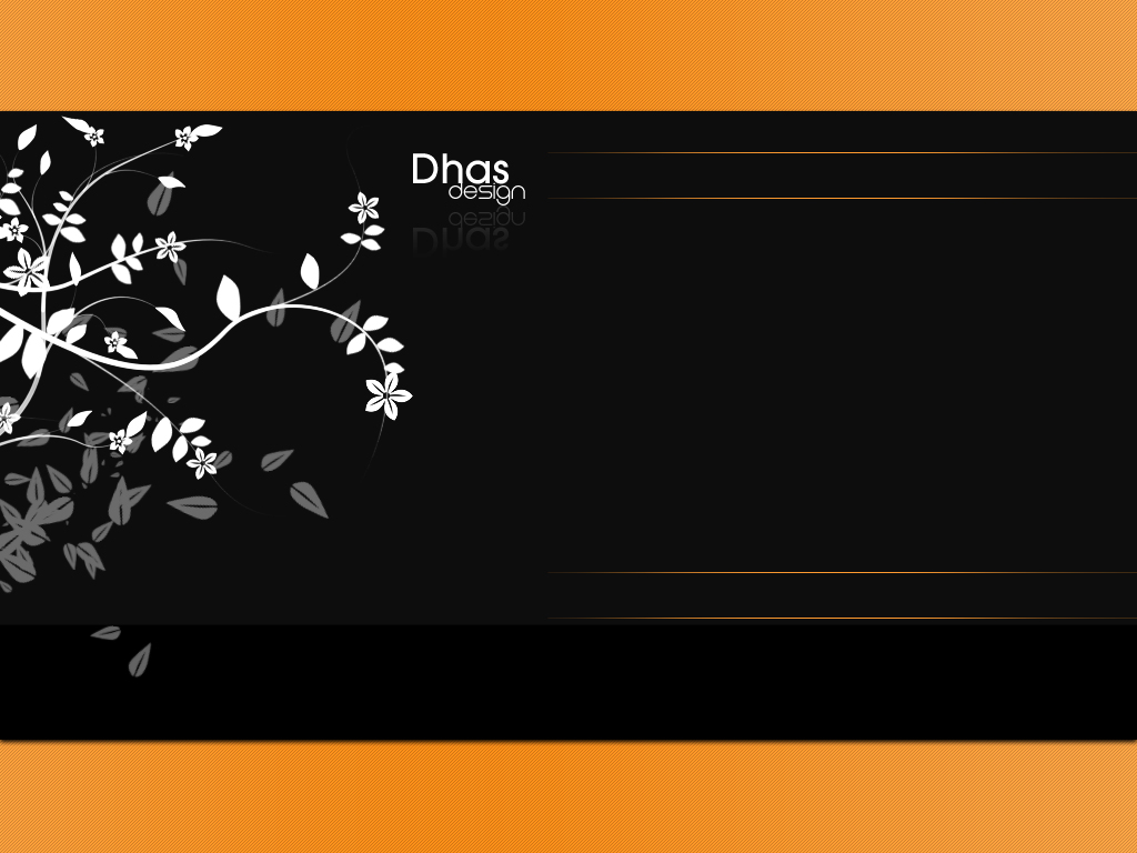 Black and orange template by dhas 1024x768