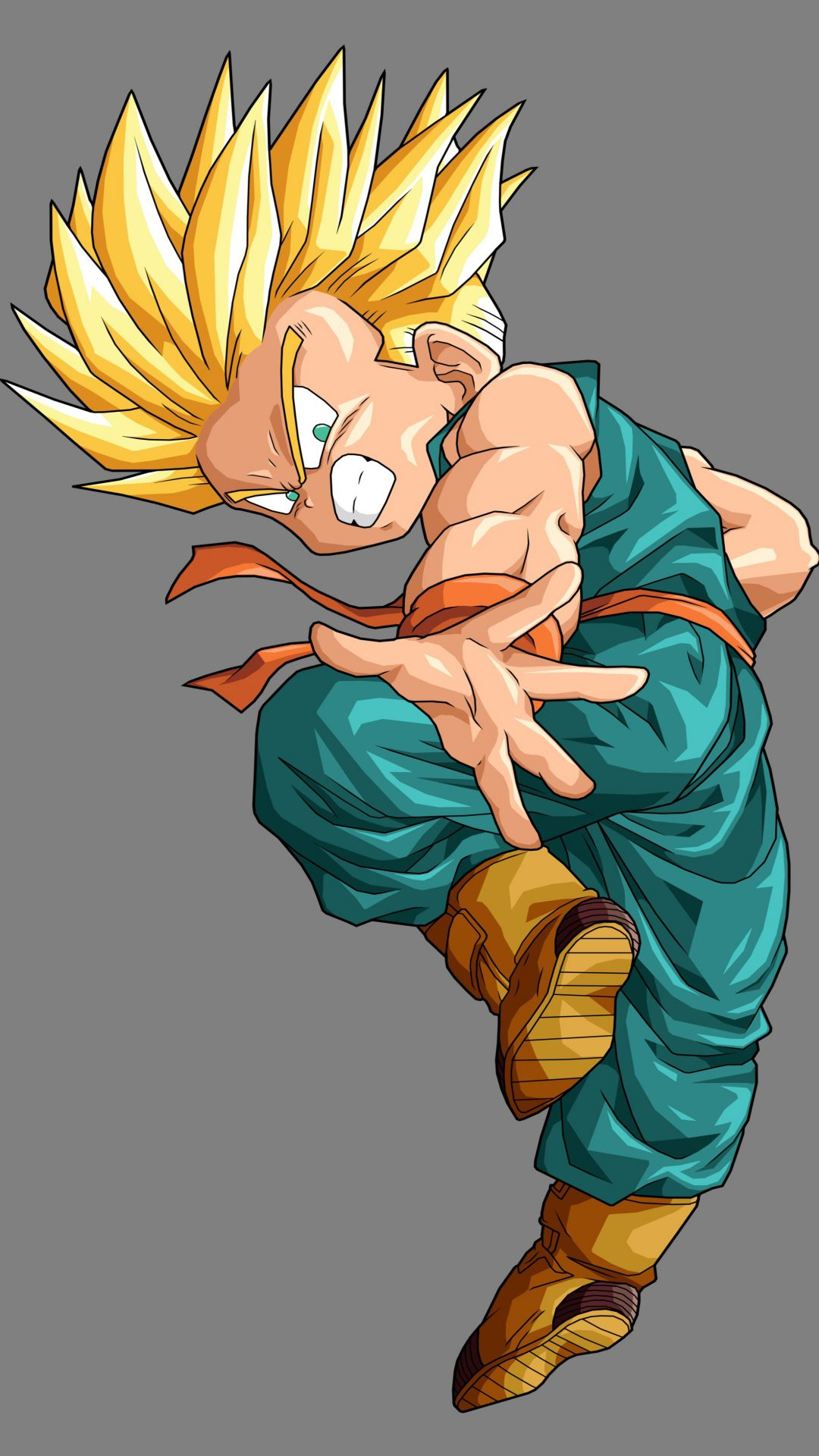 Kid Trunks SSJ DBZ 4K UHD Wallpaper 1080x1920