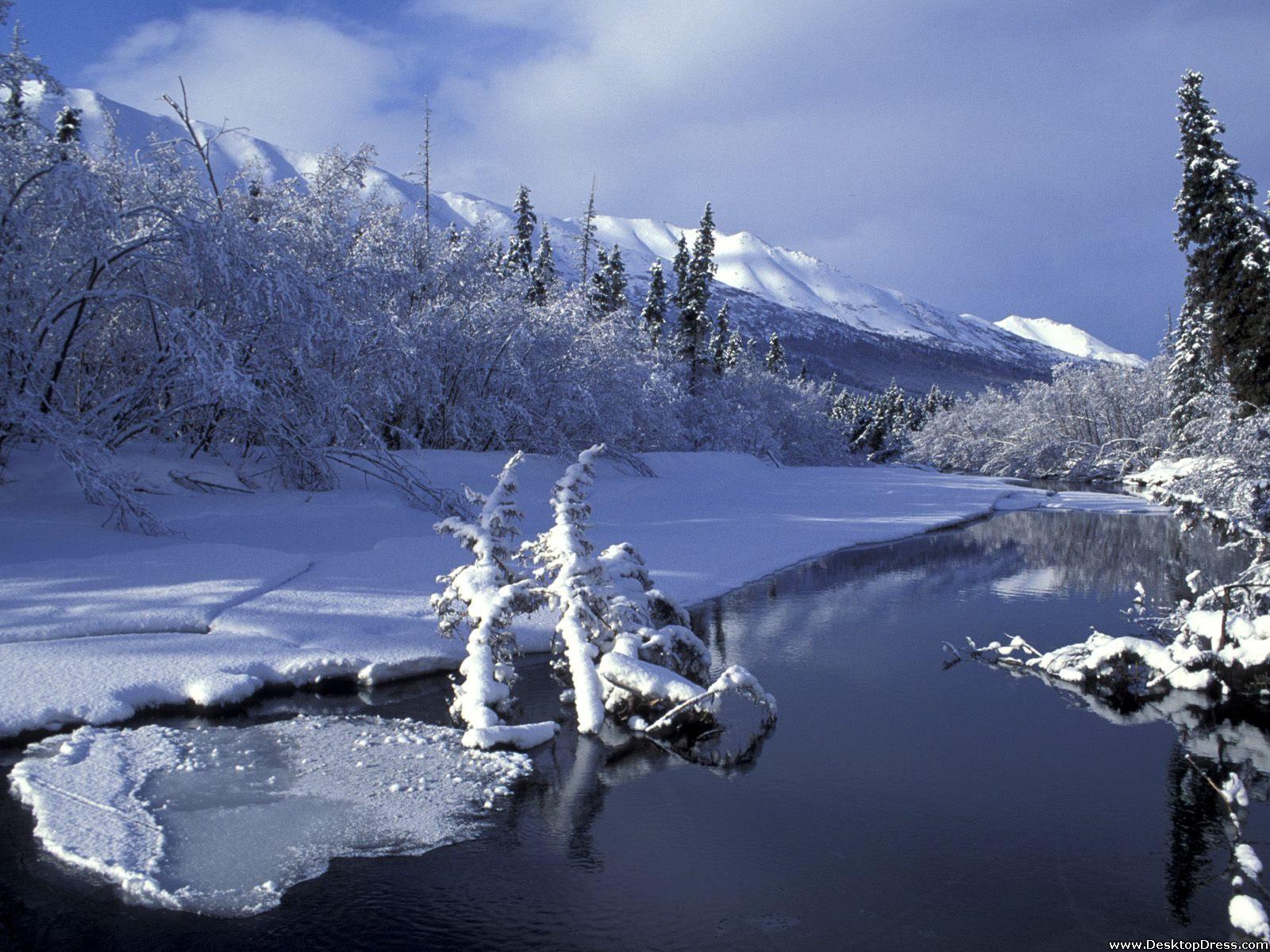 Desktop Wallpapers Natural Backgrounds Eagle River Alaska 1600x1200