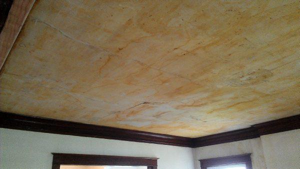 Skim Coating On Plaster Ceiling Before 600x338