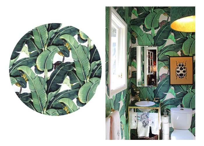 Martinique Wallpaper in Green Hinson Co Interior by Marjorie 700x500