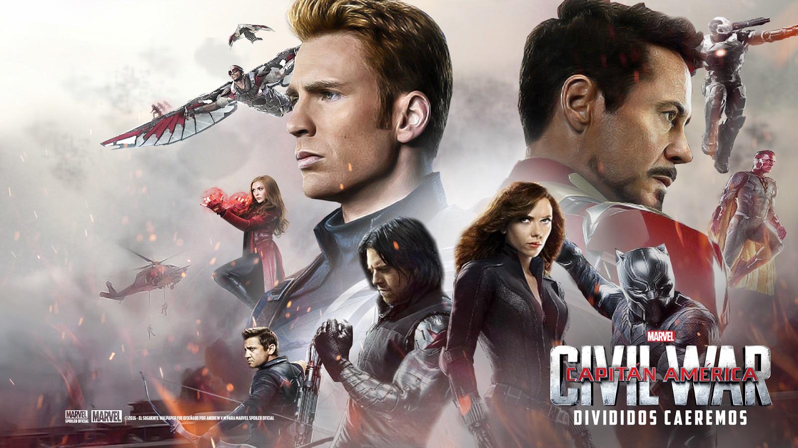 Captain America Civil War La Team Iron Man et la Team Captain 1600x900