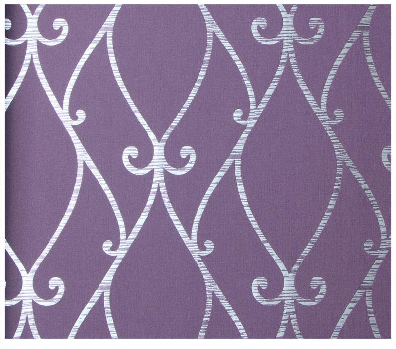 Purple Modern European Design Flocked Home Decor Wallpaper View Home 800x706