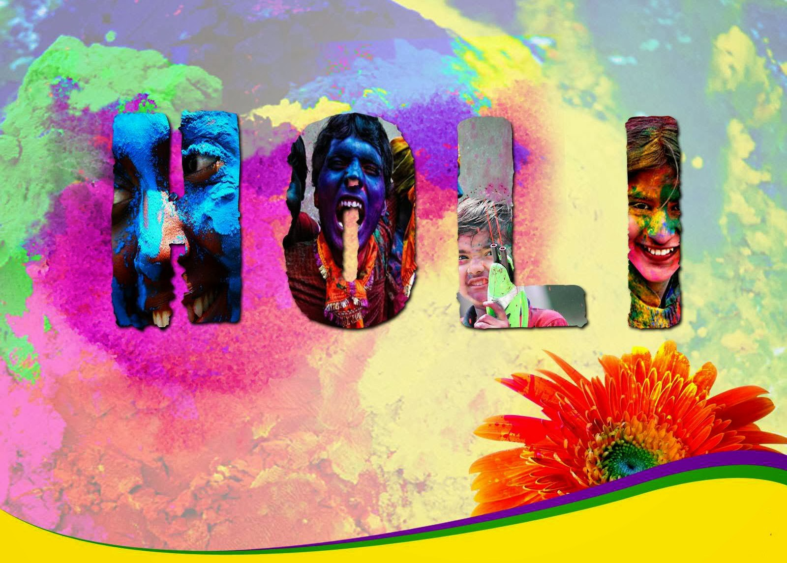 Happy Holi 2017 HD Wallpapers for Laptop Download 1600x1146