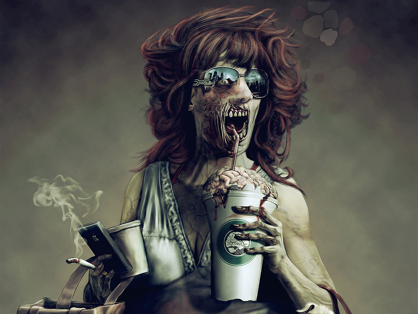 Free Download Dark Zombie Wallpaper 1600x1200 For Your Desktop