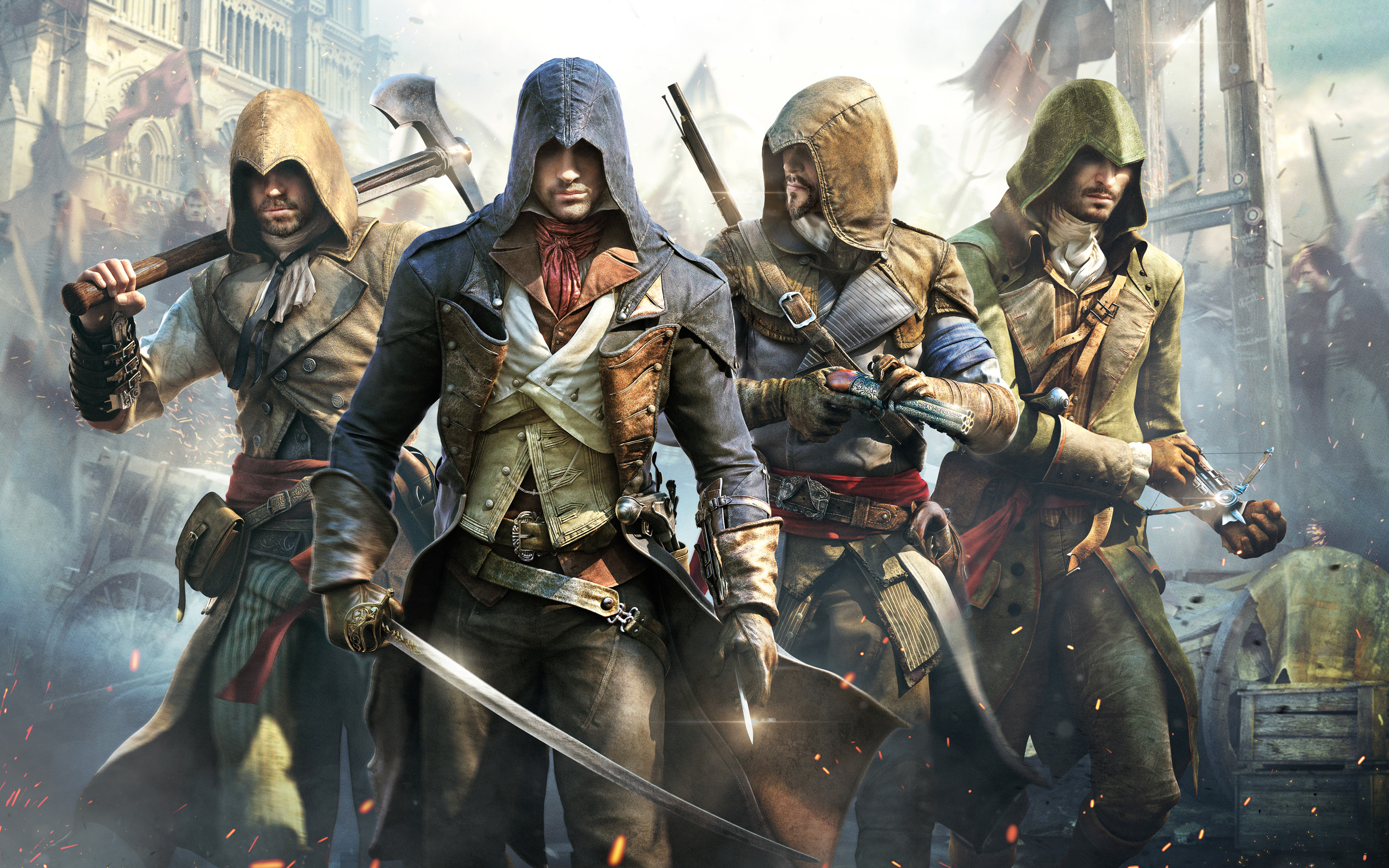 Assassins Creed Unity Poster Wallpapers HD Wallpapers 2880x1800