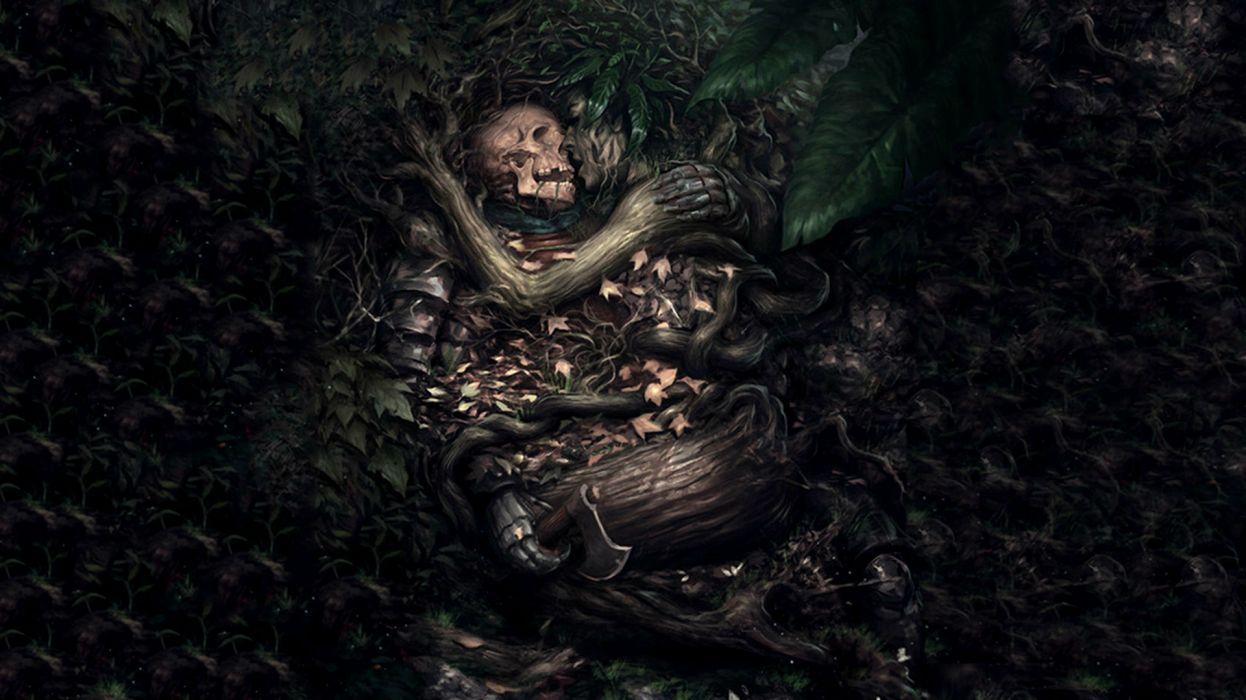 Dark gothic fantasy skull mood love death sad sorrow wallpaper 1246x700