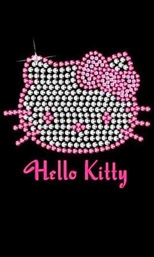 comandroid themeswallpapershello kitty black wallpapers gwrjrhtml 307x512