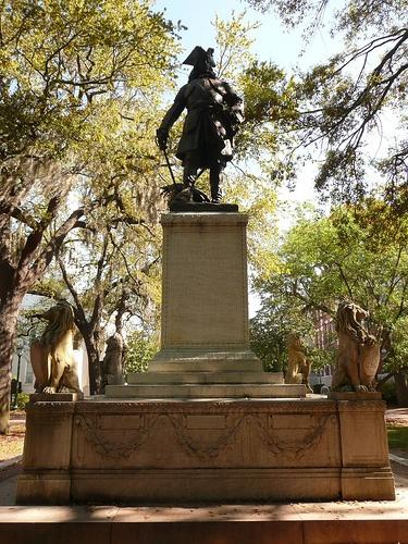 General Oglethorpe   Chippewa Square in Savannah GA USA This monument 375x500