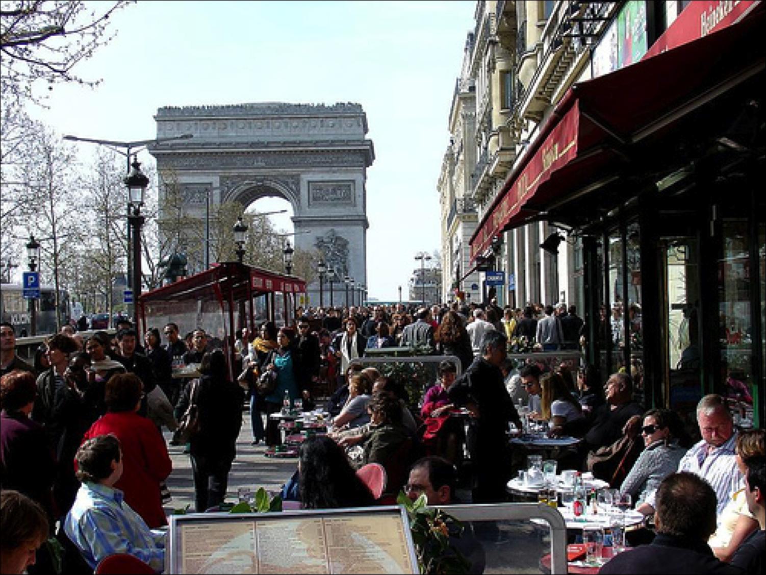 Paris Street Cafe Bistro Restaurant France French Flower Wallpaper 1502x1127