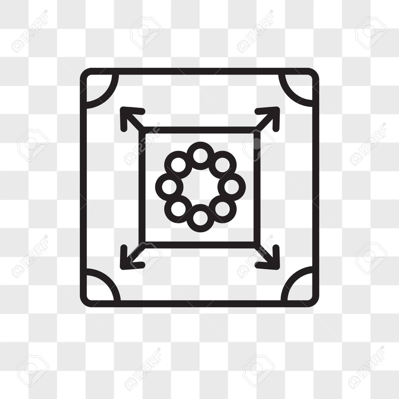Carrom Vector Icon Isolated On Transparent Background Carrom 1300x1300