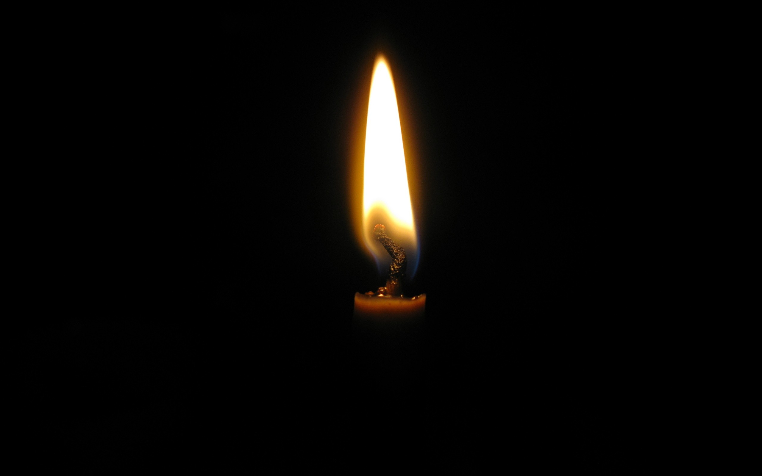 burning candle Wallpaper Background 38417 2560x1600