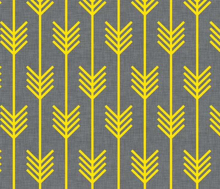 Yellow Gray arrows wallpaper 736x630