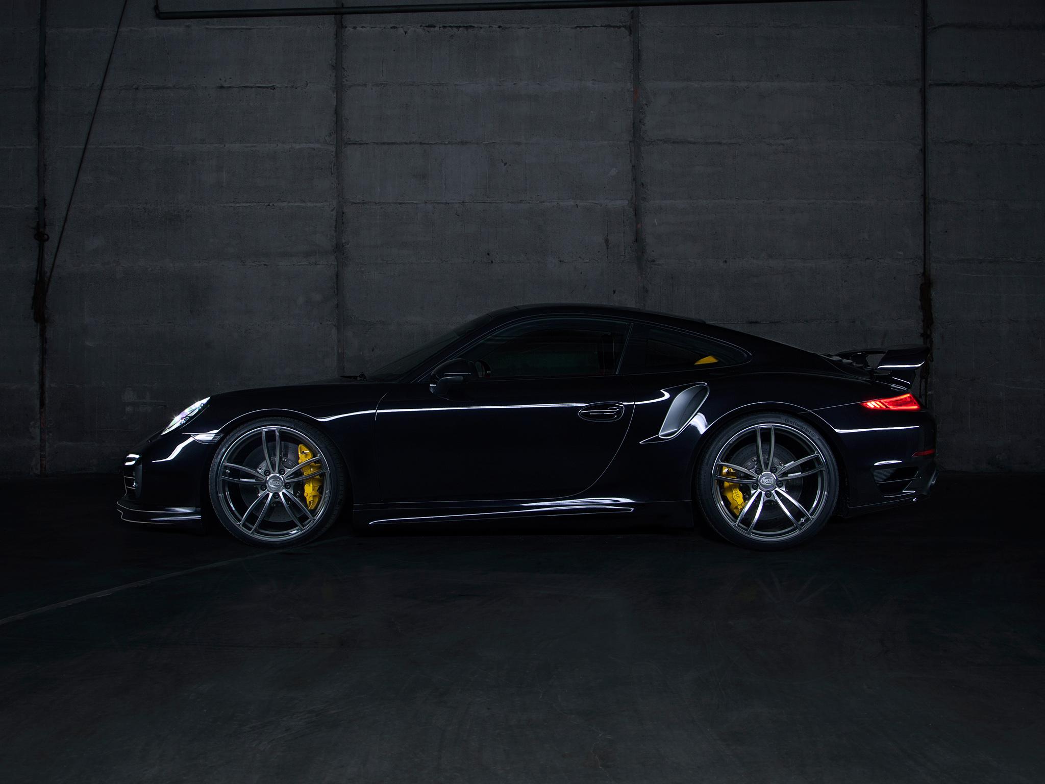 Black Porsche 911 Turbo Wallpaper