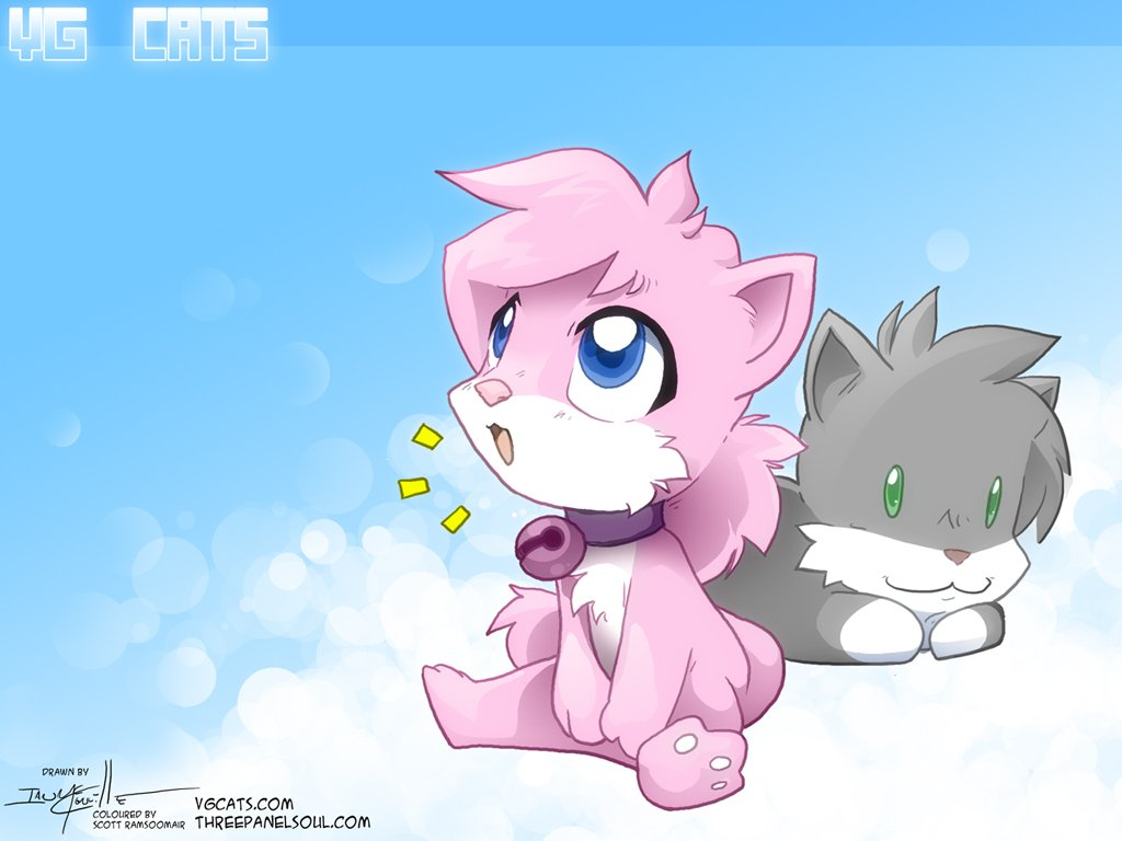 46 cute cartoon cat wallpaper on wallpapersafari - Anime cat wallpaper ...