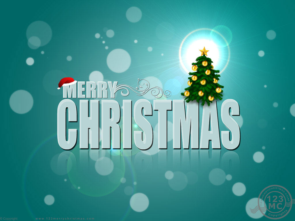 free merry christmas wallpaper 1024x768