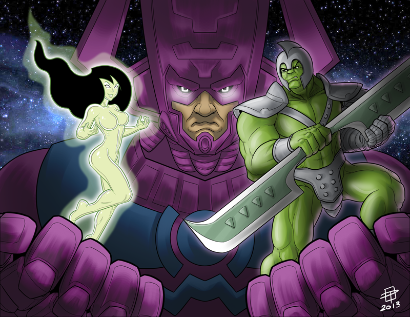 Heralds of Galactus  Hulk and Shego  By CallMePo by GorillaKing18 on 800x618