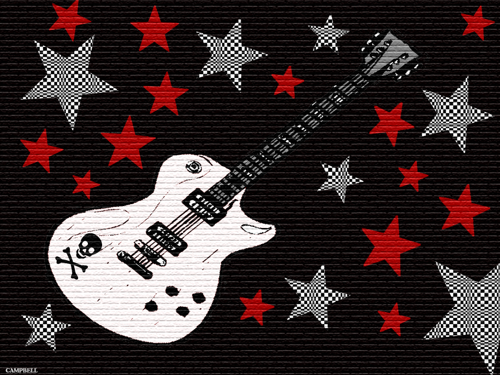 Accessible Novelties Rock Star Music Guitar Wallpaper 1024x768