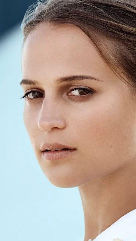 Alicia Vikander brunette beautiful 540x960 wallpaper 540x960