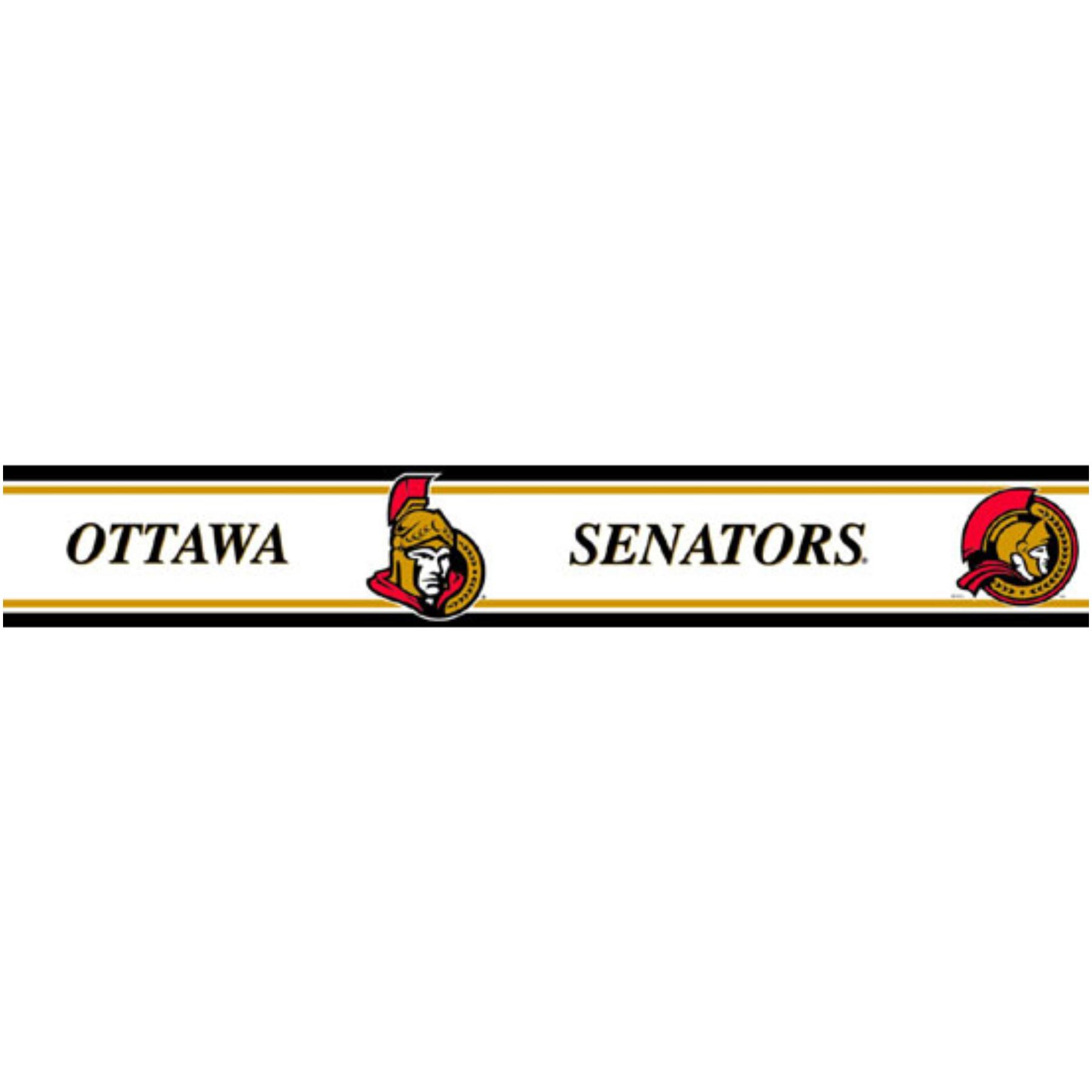 Trademarx Wallcovering Ottawa Senators Peel And Stick Wallpaper Border 1800x1800