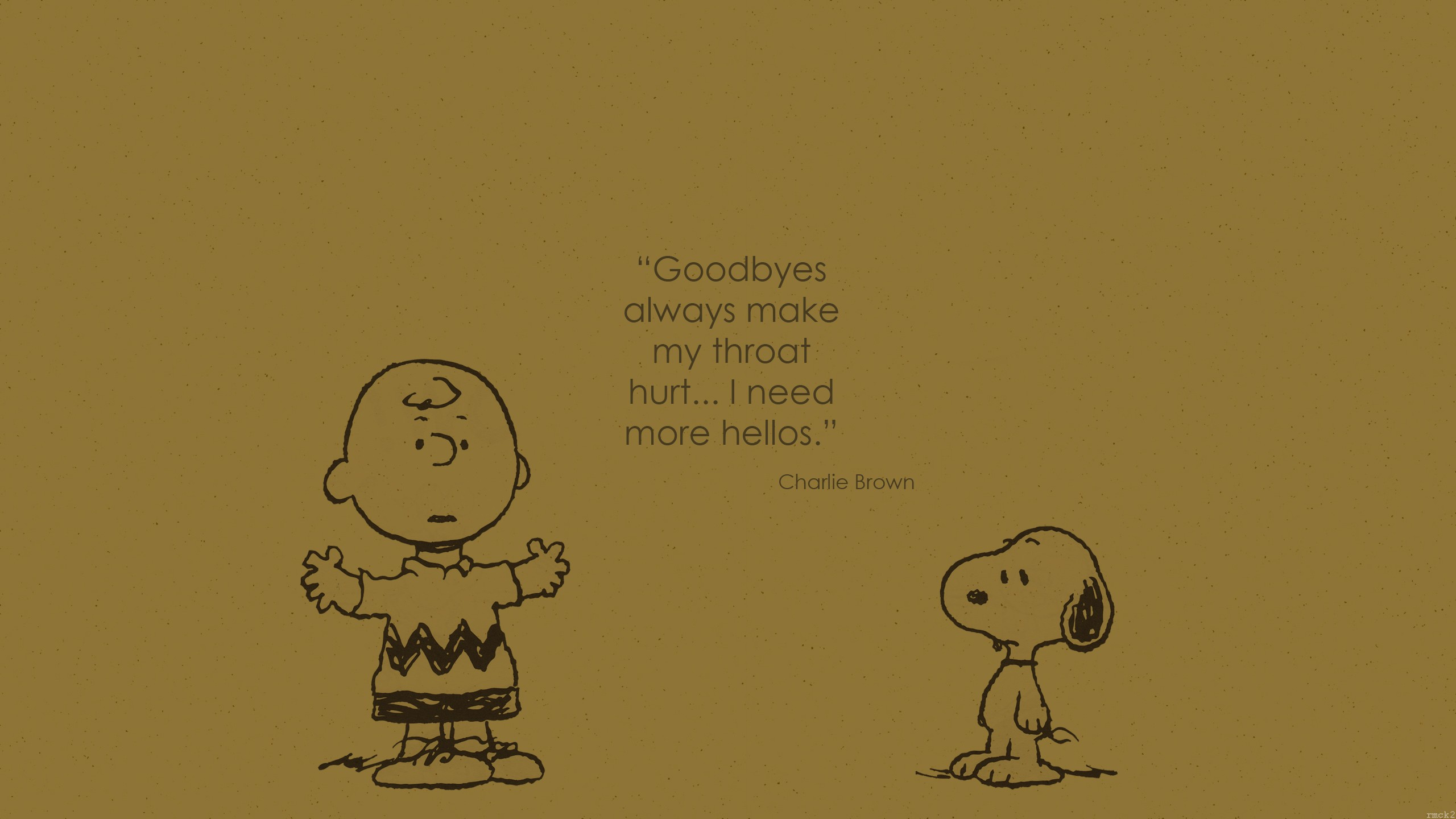 Snoopy Charlie Brown Quote Wallpapers HD Desktop and 2560x1440