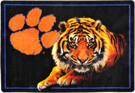 Clemson Tigers College Mascot Rug 543x376