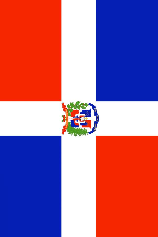 Dominican Republic Flag iPhone Wallpaper HD 640x960