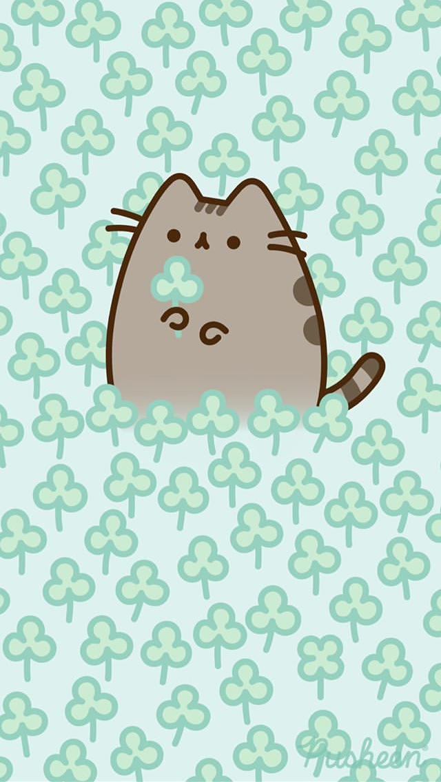 Pin by Gerianne Sanok on St Patricks Day Pusheen cute Pusheen 640x1136