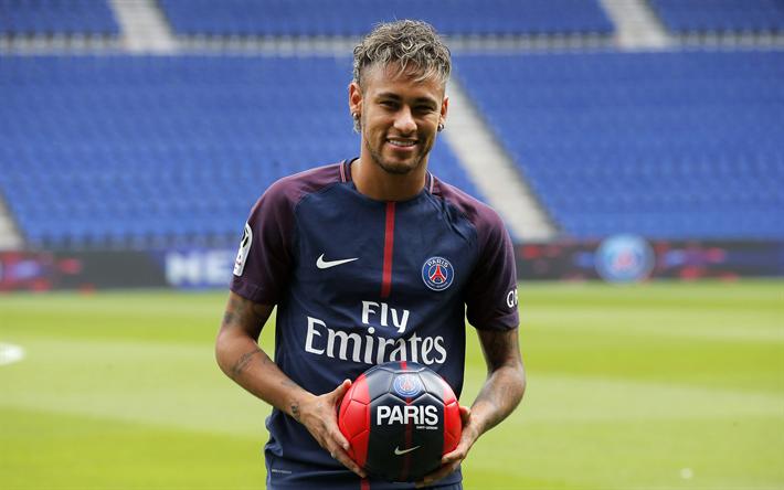Download wallpapers Neymar JR 4K Football Paris Saint 710x444