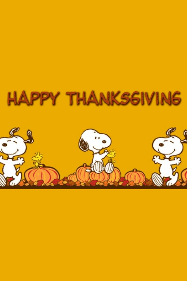 Backgrounds Pictures Photos iPhone 4 Wallpaper snoopy thanksgiving 640x960