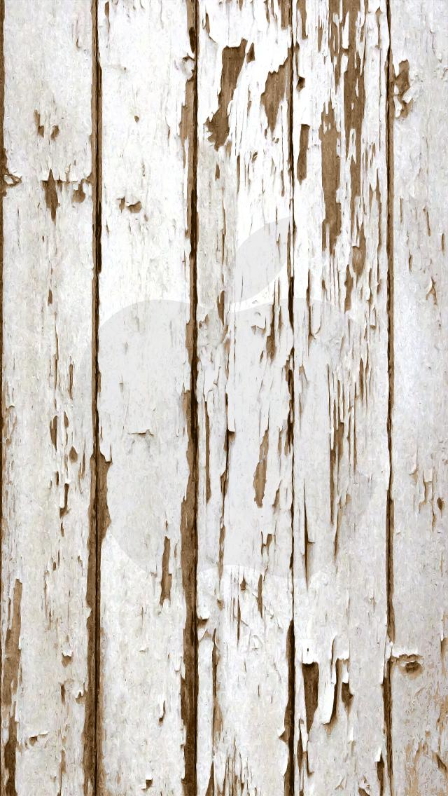 iPhone 6 Wallpaper Wood weathered apple white 640x1136