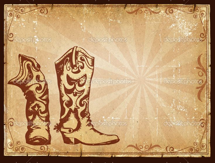 Western Theme Backgrounds | Cowboy old paper background for text with ...