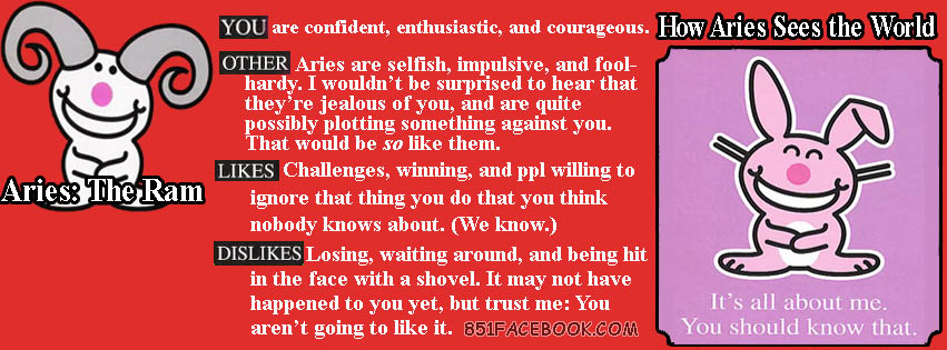 Pin Aries Zodiac Sign Quotes 851x315