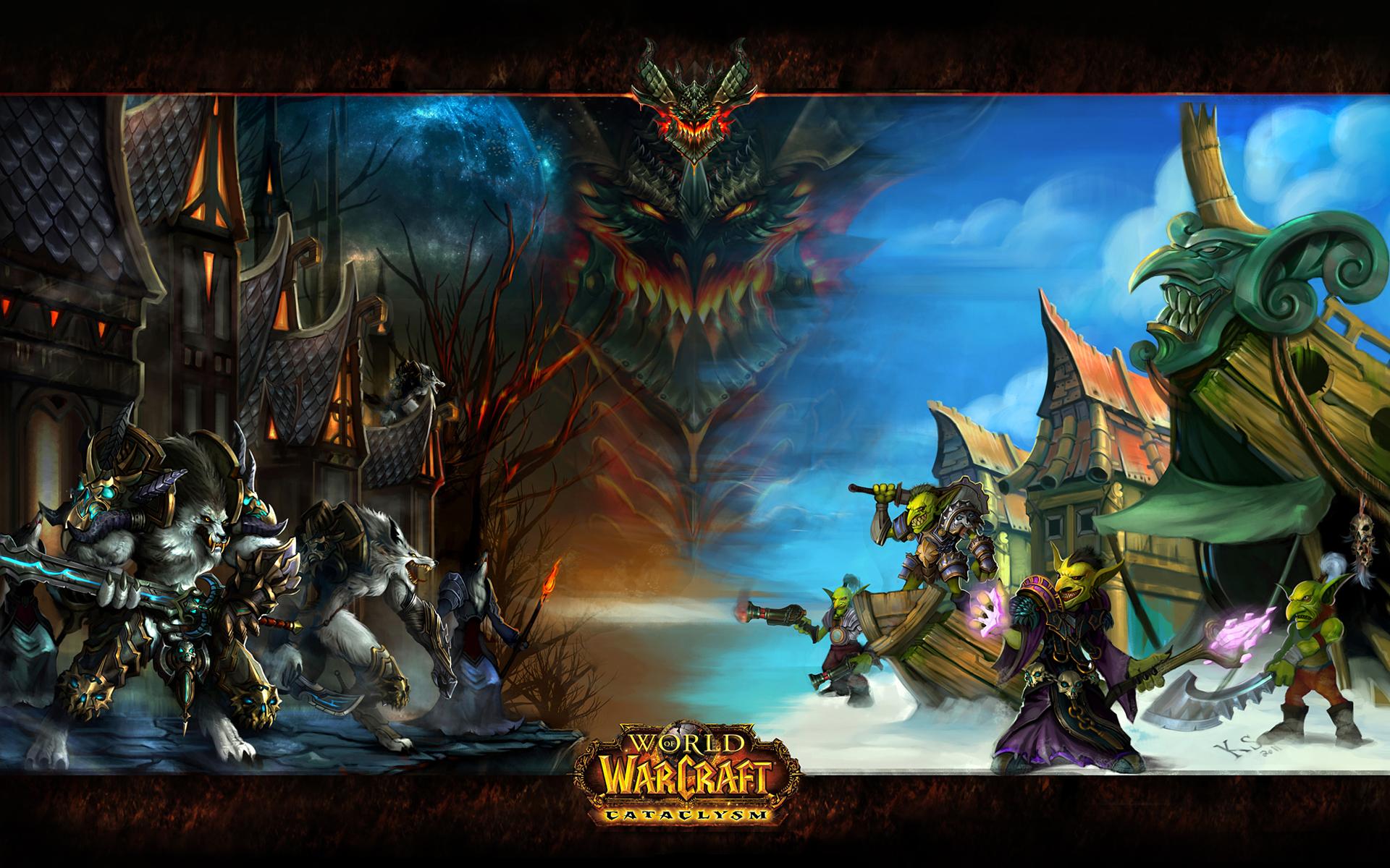 Wow Cataclysm Wallpaper - WallpaperSafari  World Of Warcraft Cataclysm Wallpapers
