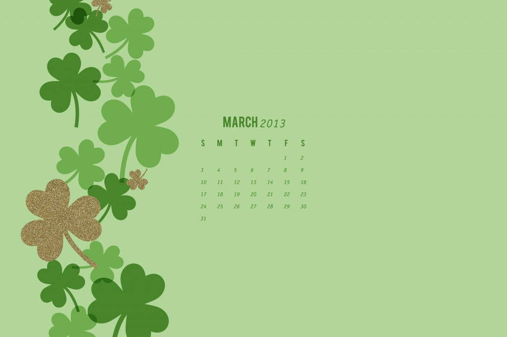 March 2013 Calendar Wallpaper by Sarah Hearts 1024x682