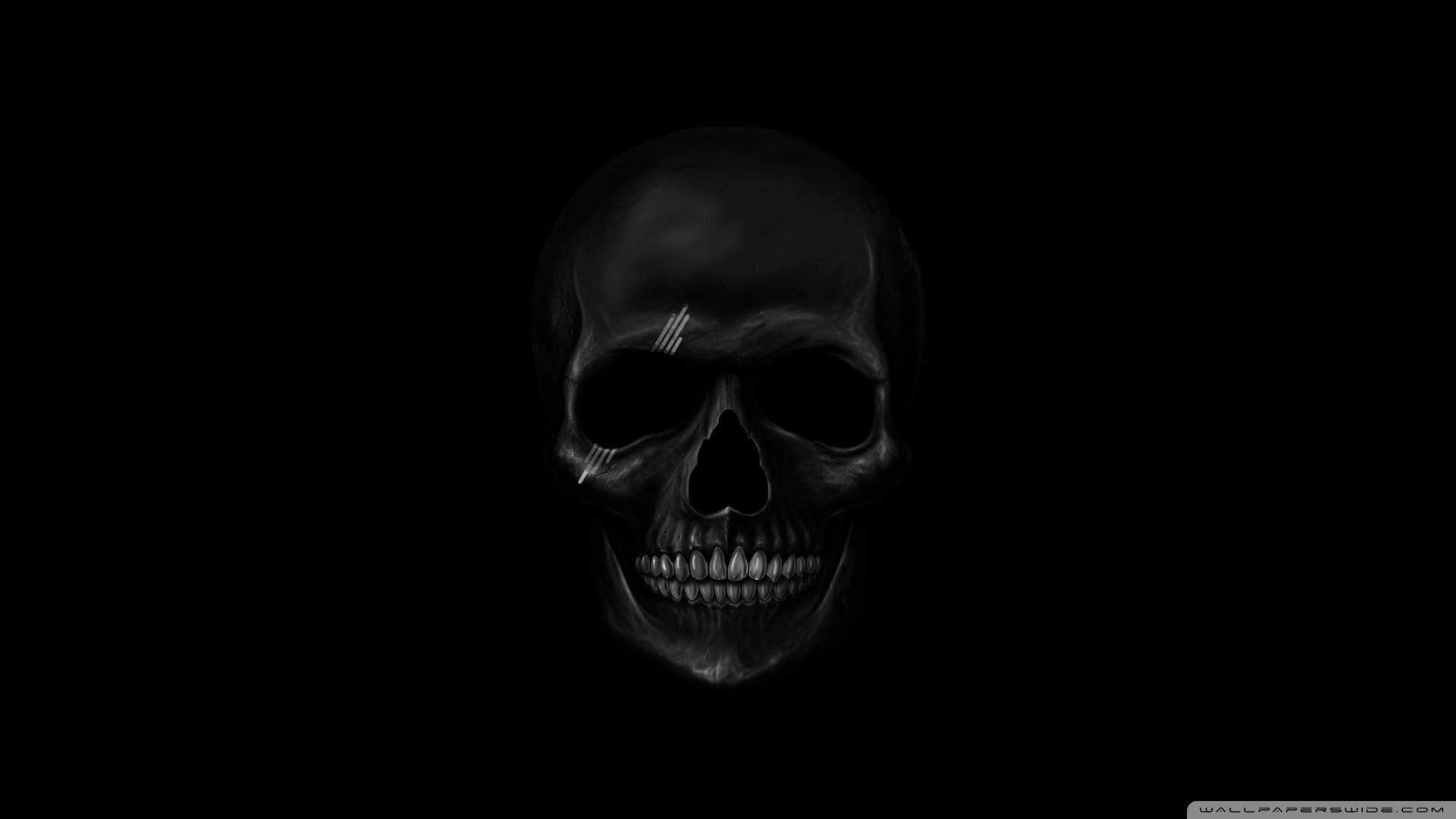 Wallpaper Black Skull Wallpaper 1080p HD Upload at February 12 2014 1920x1080