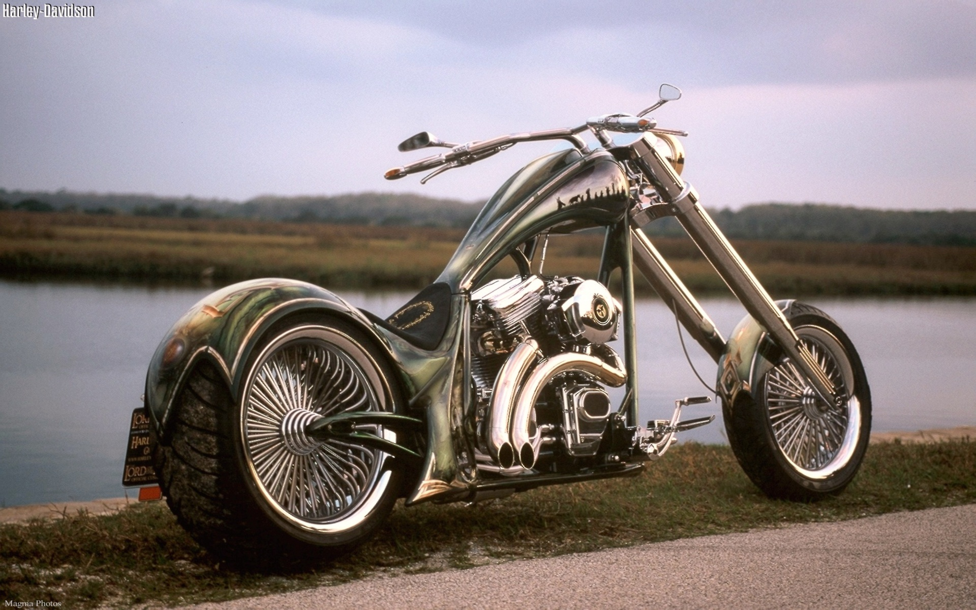 Download Cool Harley Davidson Chopper HD Wallpaper 1927 Full Size 1920x1200