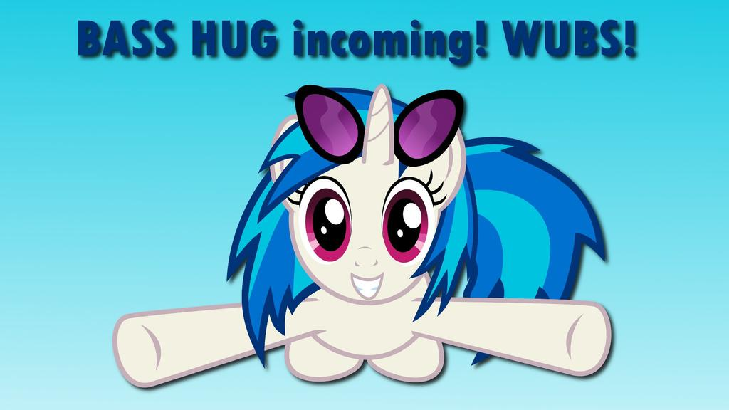 Wallpaper Vinyl Scratch Bass HUG incoming by Barrfind 1024x576