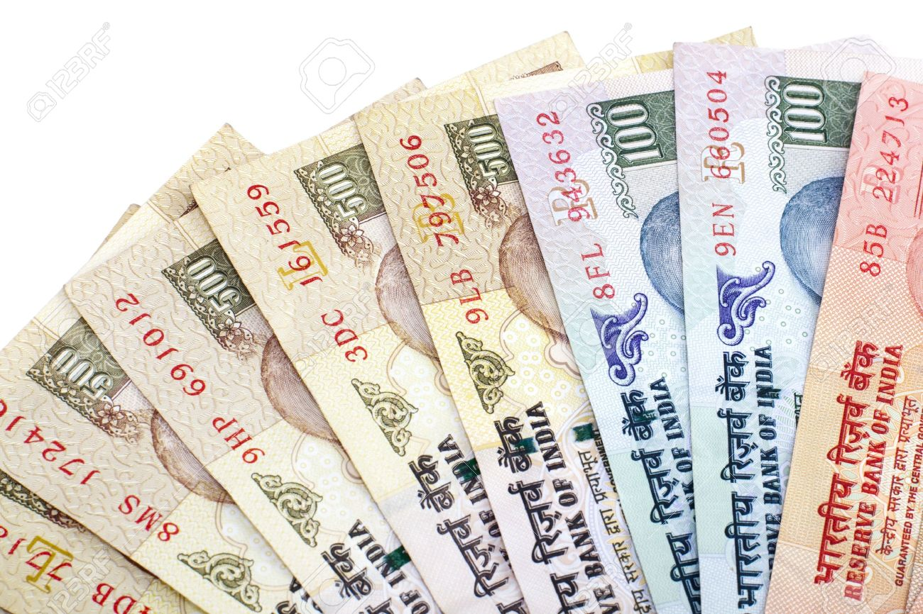 Indian Rupee Bank Notes On White Background Stock Photo Picture 1300x866