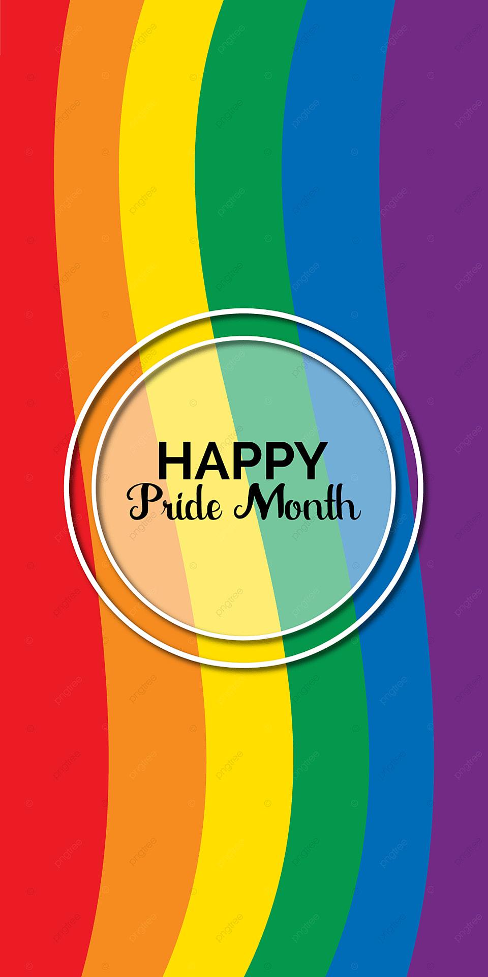Happy Pride Month Mobile Phone Colorful Wallpaper Deaign Design 960x1920