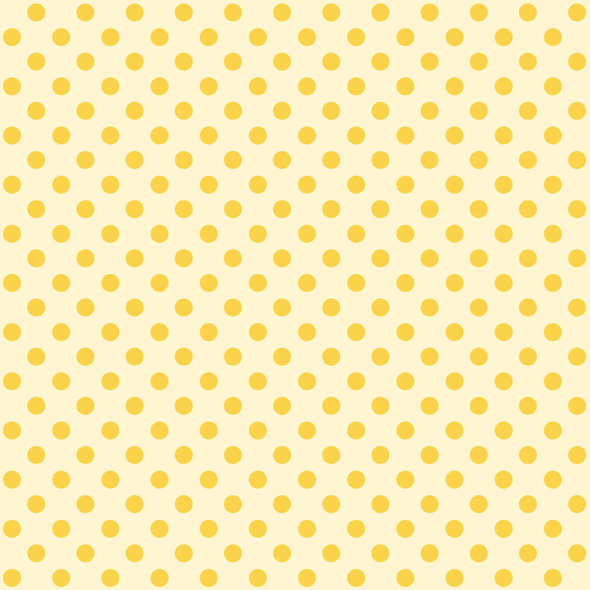 seamless spring pattern or texture with yellow polka dots on fresh