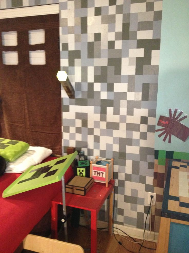 Minecraft Bedroom 736x981