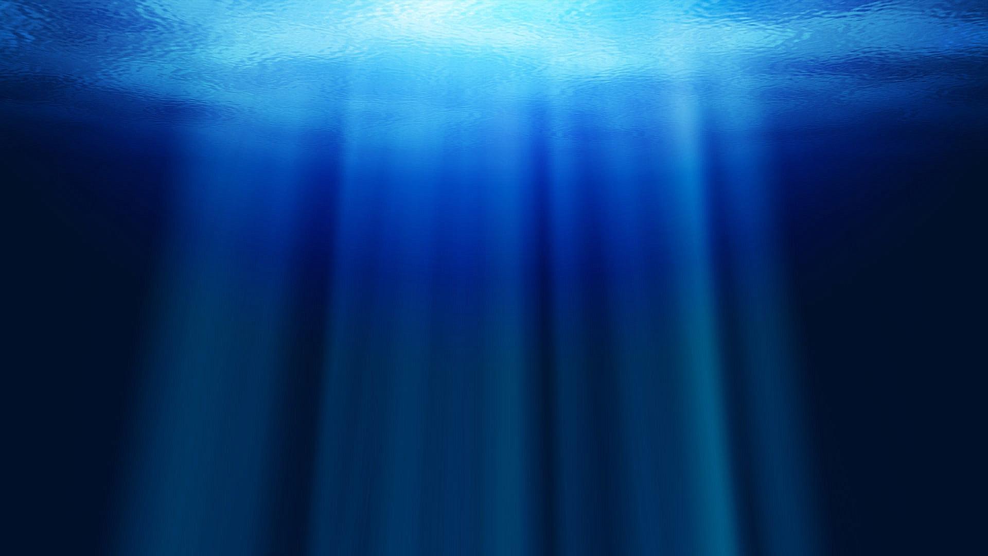 ocean water rays depth 1920x1080