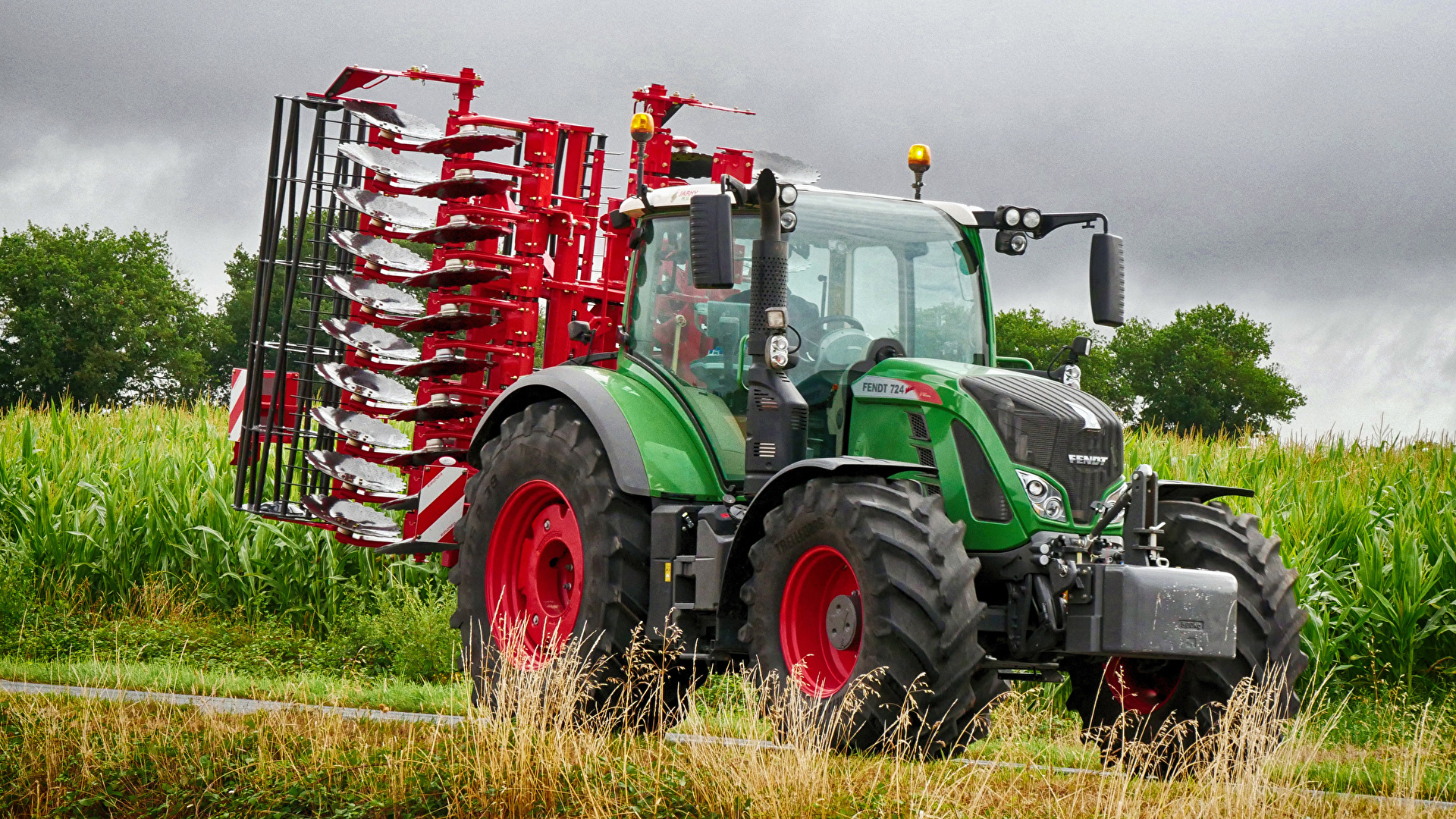 Wallpaper Agricultural machinery Tractor 2011 18 Fendt 724 1920x1080 1920x1080