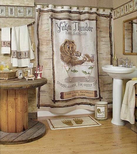 Rustic Bathroom Wallpaper, Wildlife Bathroom Decor